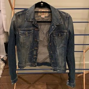French Connection Distressed Wash Jean Jacket